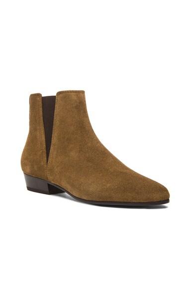 Patsha Calfskin Velvet Boots