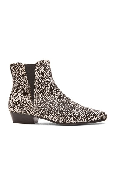 Isabel Marant Etoile Patsha Pony Hair Boots in Anthracite
