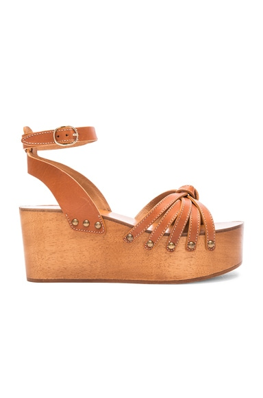 Zia Leather Wedge Sandals