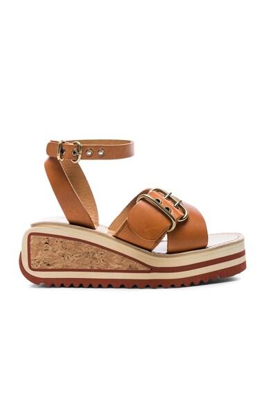 Isabel Marant Etoile Leather Zena Sandals in Tan