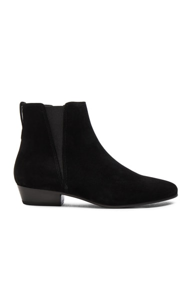 Isabel Marant Etoile Patsha Velvet Booties in Black