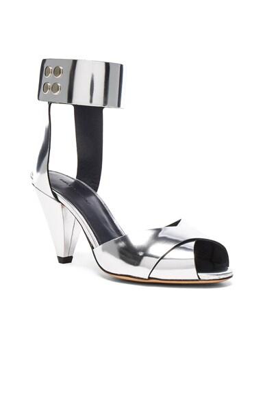 Leather Meegan Metallic Heels