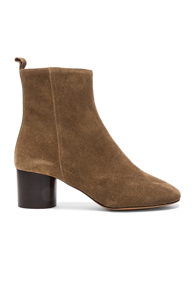Isabel Marant Etoile Suede Deyissa Summer Velvet Boots in Brown