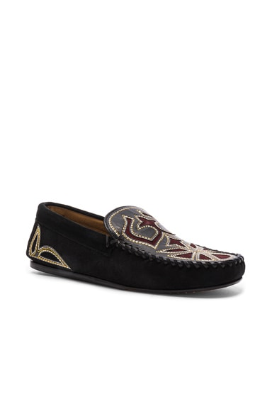 Finha Embroidered Velvet Shoes