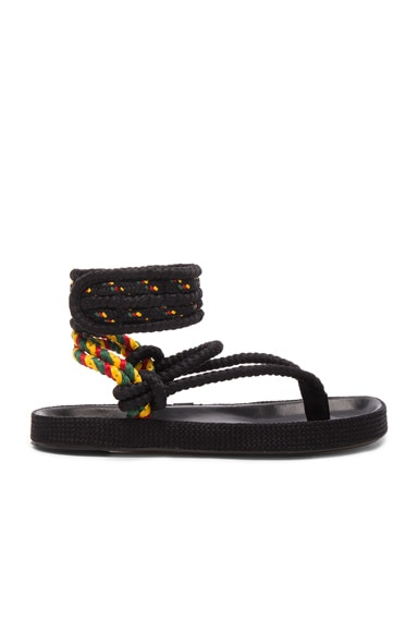 Isabel Marant Etoile Rope Epipa Sandals in Multi