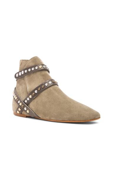 Ruben Hey Jude Calfskin Velvet Leather Boots