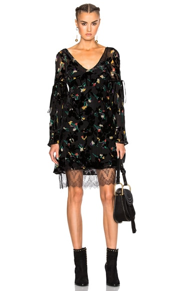 Etro Kim Velvet Dress in Black