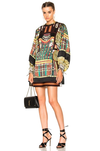 Etro Liquorice Mini Dress in Black