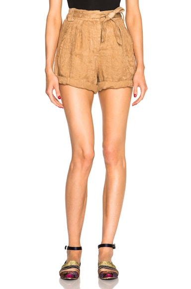 Etro Desha Shorts in Camel