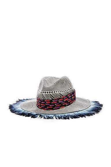 Woven Feather Hat