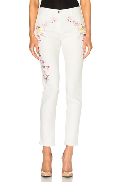 Etro Embroidered Jeans in White