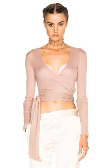 Etro Natalia Wrap Sweater in Rose