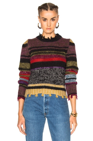 Etro Violet Stripe Sweater in Multi