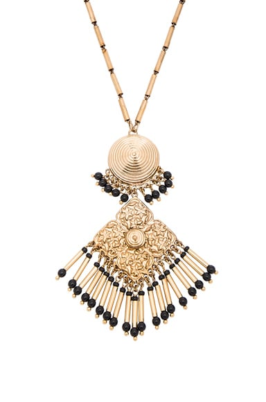 Etro Pendant Necklace in Gold & Black