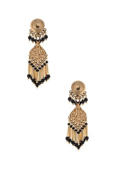 Etro Pendant Earrings in Gold & Black