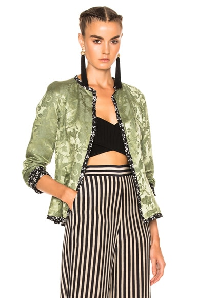 Etro Floral Lined Jacket in Green