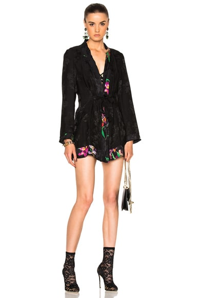 Etro Silk Jacket in Black