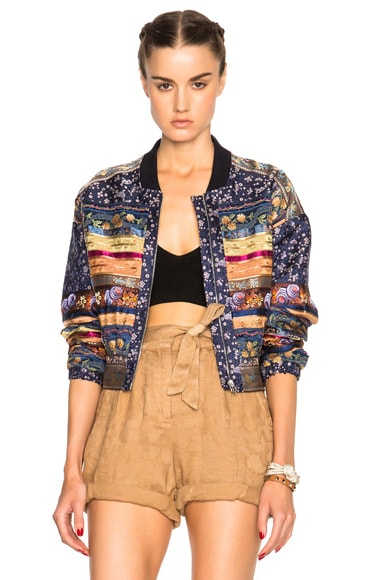 Etro Silvie Jacket in Navy Multi