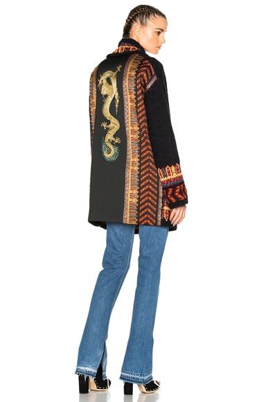 Etro Maglia Cardigan Pearl Sweater in Black