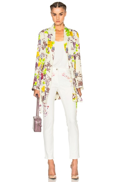 Etro Violante Printed Jacket in White