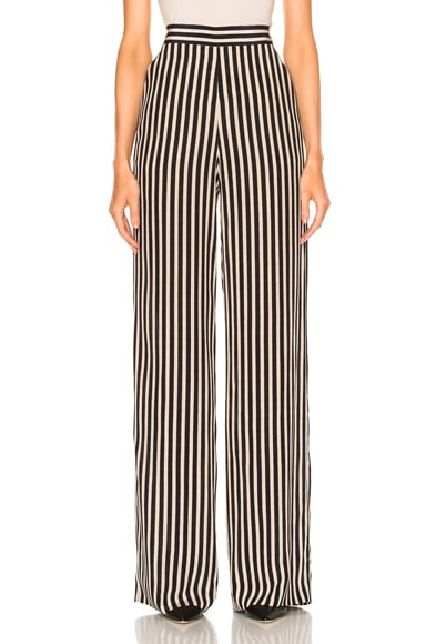 High Waisted Stripe Trousers