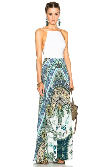 Clean Silk Maxi Skirt