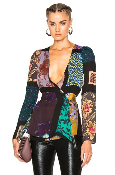 Etro Isabel Top in Black Multi