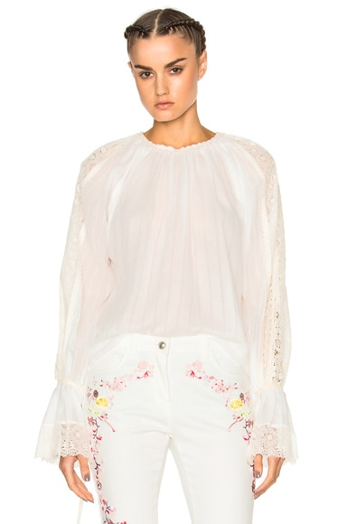Etro Printed Voluminous Blouse in White