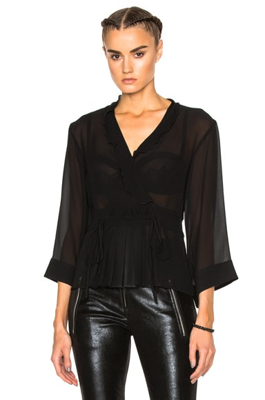 Etro Wrap Top in Black