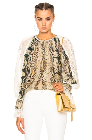 Etro Printed Voluminous Blouse in Multi
