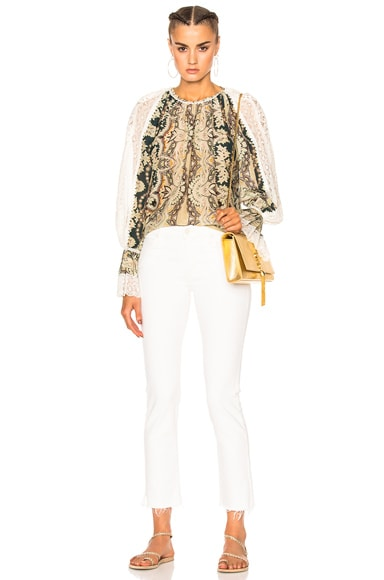 Printed Voluminous Blouse