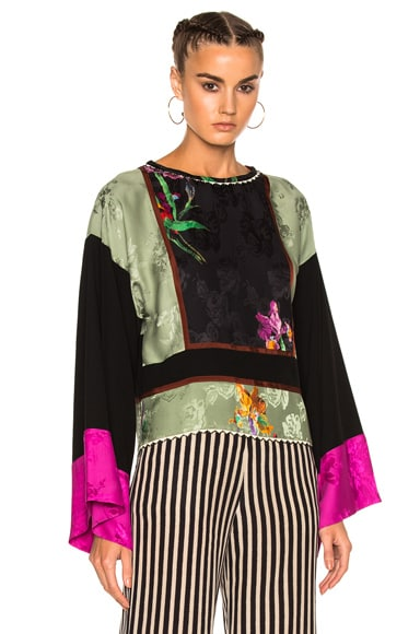 Etro Printed Long Sleeve Top in Multi