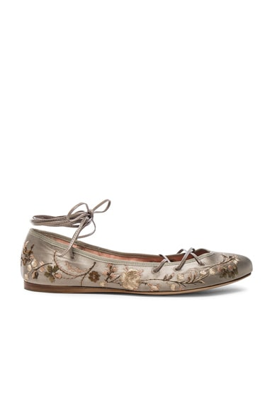 Etro Ballerina Flats in Taupe