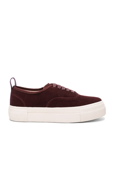 Eytys Suede Mother Sneakers in Oxblood
