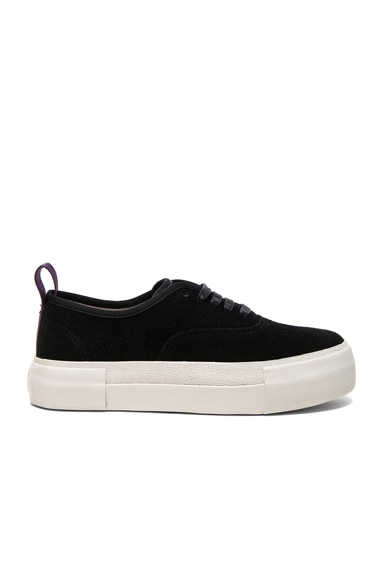 Eytys Suede Mother Sneakers in Black