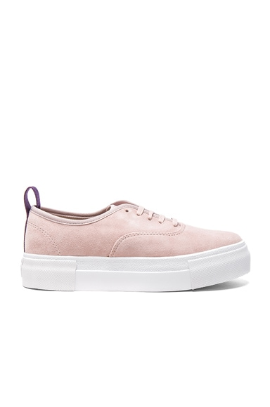 Eytys Suede Mother Sneakers in Powder Pink
