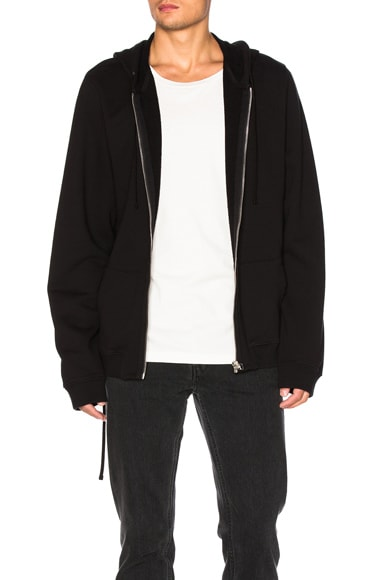 Faith Connexion Oversize Lace Hoodie in Black