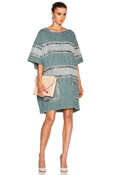 Faith Connexion Fleece Dress in Indigo