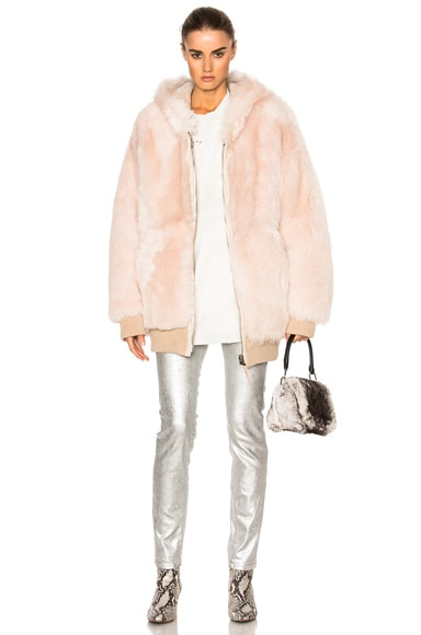 Reversible Lamb Fur Oversized Jacket