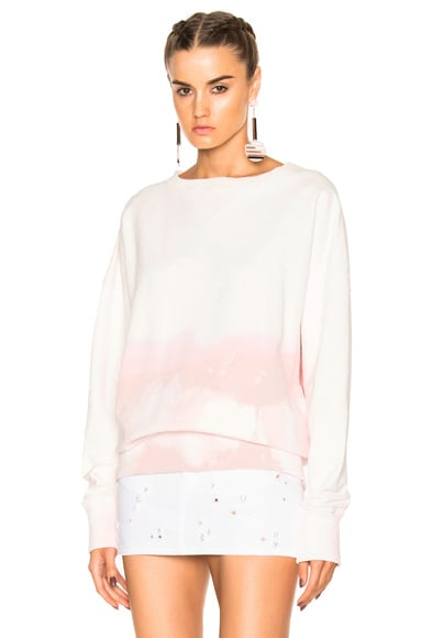 Faith Connexion Spray Raglan Sweatshirt in Pink