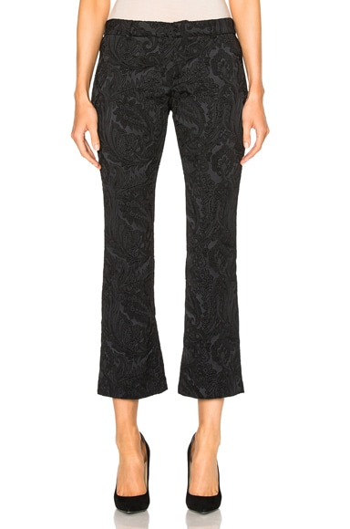 Faith Connexion Brocade Trump Pants in Black