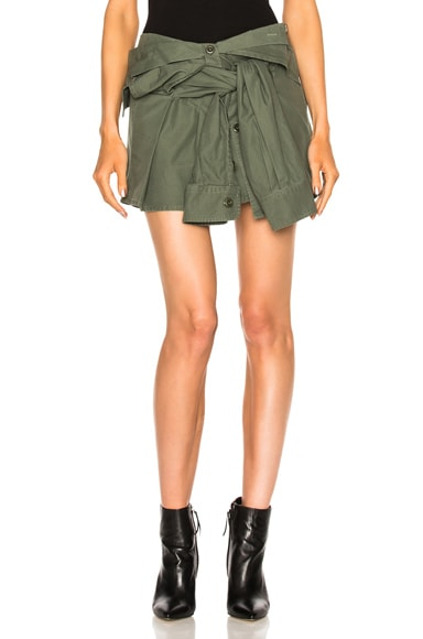 Faith Connexion Shirt Skirt in Khaki