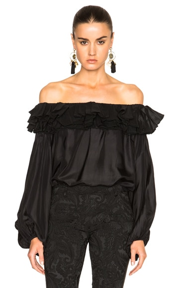 Faith Connexion Taffeta Top in Black