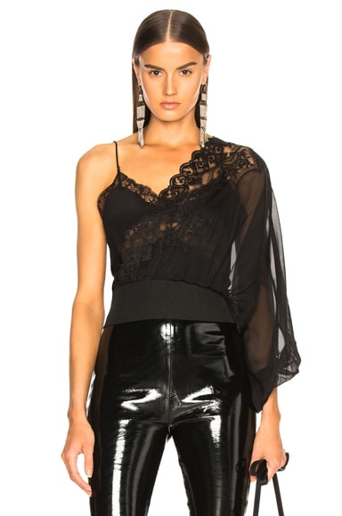 One Shoulder Lace Top