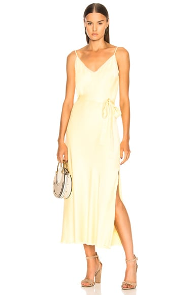 Satin Tie Slip Dress