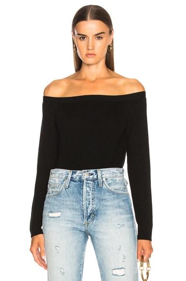 Cropped Rib Sweater