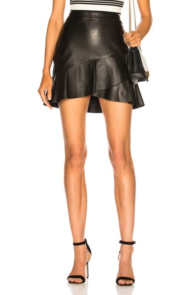Zip Twirl Mini Skirt