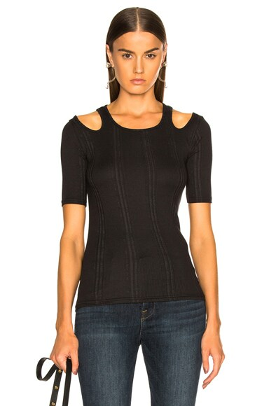Open Shoulder Short Sleeve Top
