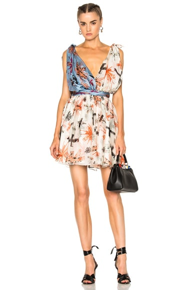 Fausto Puglisi Print Mini Dress in Multi