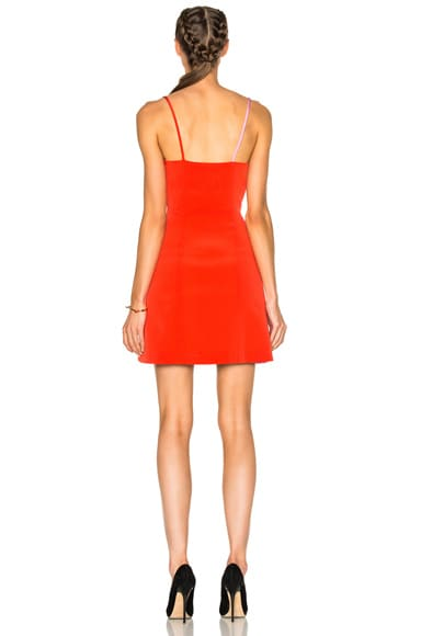 Bicolor Ruffle Dress